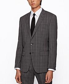 BOSS Men's Huge6/Genius5 Slim-Fit Virgin-Wool Suit