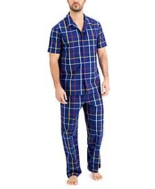 Men's Plaid Pajama Set, Created for Macy's