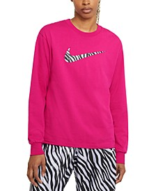 Plus Size Icon Clash Long-Sleeve Top
