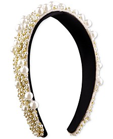 INC Gold-Tone Bead & Imitation Pearl Cluster Headband, Created for Macy's