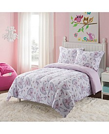 Swan Lake 3-Piece Comforter Set, Full