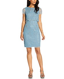 Embellished Overlay Dress