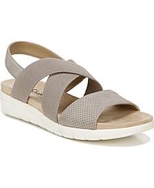 Plush Slingback Sandals