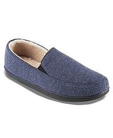 Men's Knit Moccasin Slippers
