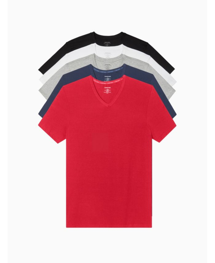 Calvin Klein Men's 5-Pk. Classic V-Neck Undershirts & Reviews - Underwear & Socks - Men - Macy's