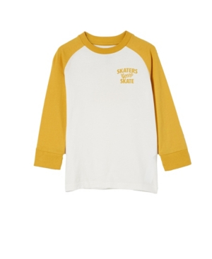 Cotton On TODDLER BOYS TOM LONG SLEEVE RAGLAN T-SHIRT