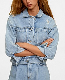 Women's Faded Denim Jacket