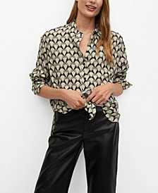 Women's Geometric Print Shirt