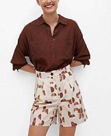 Women's Geometric-Print Shorts