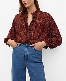 Women's Sheer Printed Blouse