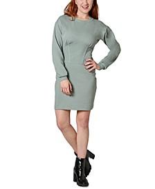 Juniors' Corset Sweatshirt Dress