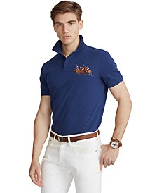 Men's Custom Slim Fit Triple-Pony Polo Shirt