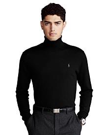 Men's Washable Wool Turtleneck Sweater
