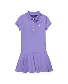 Toddler Girls Stretch Pique Polo Dress