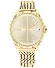 Women's Gold-Tone Mesh Bracelet Watch 35mm