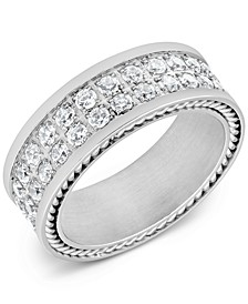 Men's Cubic Zirconia Band in Stainless Steel