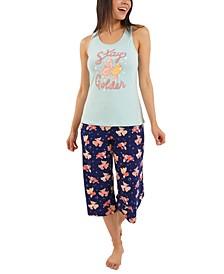 Stay Golden Capri Pajama Set