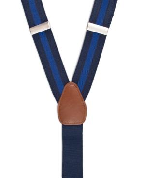 Men's Vintage Style Suspenders Braces Club Room Mens Collegiate Stripe Suspenders Created for Macys $39.50 AT vintagedancer.com