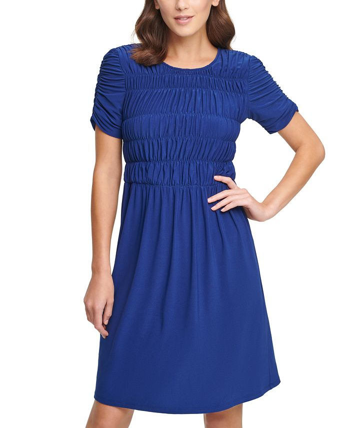 DKNY - Ruched-Sleeve Dress