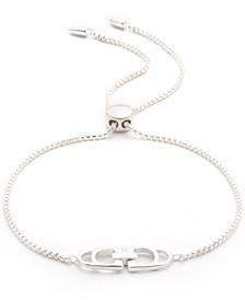 Double Stirrup Bolo Bracelet in Sterling Silver