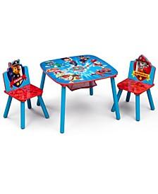 Nick Jr. Paw Patrol Kids Storage Table and Set, 3 Piece