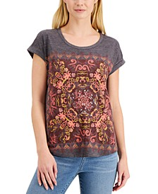 Petite Sequin Graphic T-Shirt, Created for Macy's