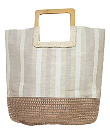 Women's Square Handle Tote Bag