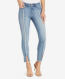 Women's Regular Skinny Zipper Jeans