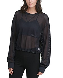 Sport Long-Sleeve Mesh Top