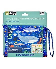 Two Sided On The Go Puzzle - Under the Sea, 100 Pieces