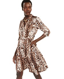 INC Leopard-Print Shirtdress, Created for Macy's