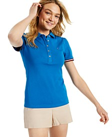 Cotton Puff-Sleeve Polo