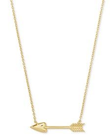 "14k Gold-Plated Arrow Pendant Necklace, 16"" + 2"" extender"