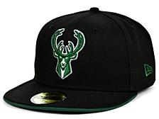 Milwaukee Bucks Black Gray Pop 59FIFTY Cap