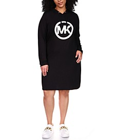 Plus Size Logo Hoodie Dress