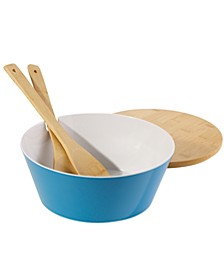 Mod 4 Piece Salad Serve Bowl with Lid and Servers