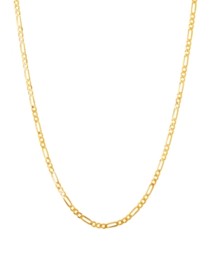 """Polished 20"""" Figaro Chain in Solid 10K Yellow Gold"""