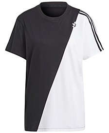 Women's Cotton Colorblocked T-Shirt