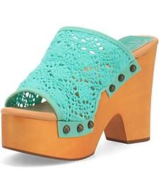 Women's Crafty Leather Platform Sandal