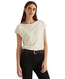 Boatneck Sequin T-Shirt
