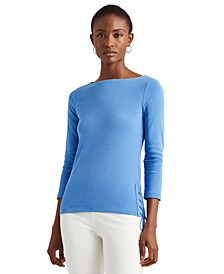 Stretch-Infused Lace-Up Top