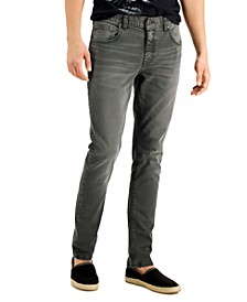 INC Men's Olive Skinny-Fit Jeans, Created for Macy's