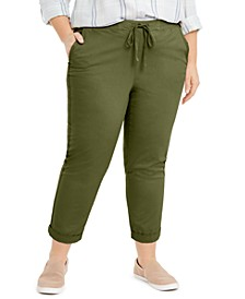 Plus Size Twill Tape Utility Pants, Created for Macy's