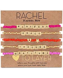 Gold-Tone 5-Pc. Set Manifest Grace Beaded Stretch Bracelets