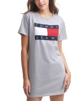 Flag Logo Cotton T-Shirt Dress