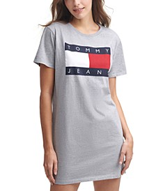 Flag Logo Cotton T-Shirt Dress