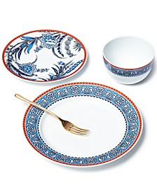 Exotic Escape Floral 12-Pc. Dinnerware Set, Service for 4, Created for Macy's