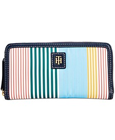 Julia Striped Nylon Zip Wallet, Created for Macy's