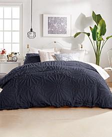 Chenille Medallion Comforter Set, Full/Queen