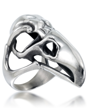 Men's Openwork Eagle Ring in Stainless Steel